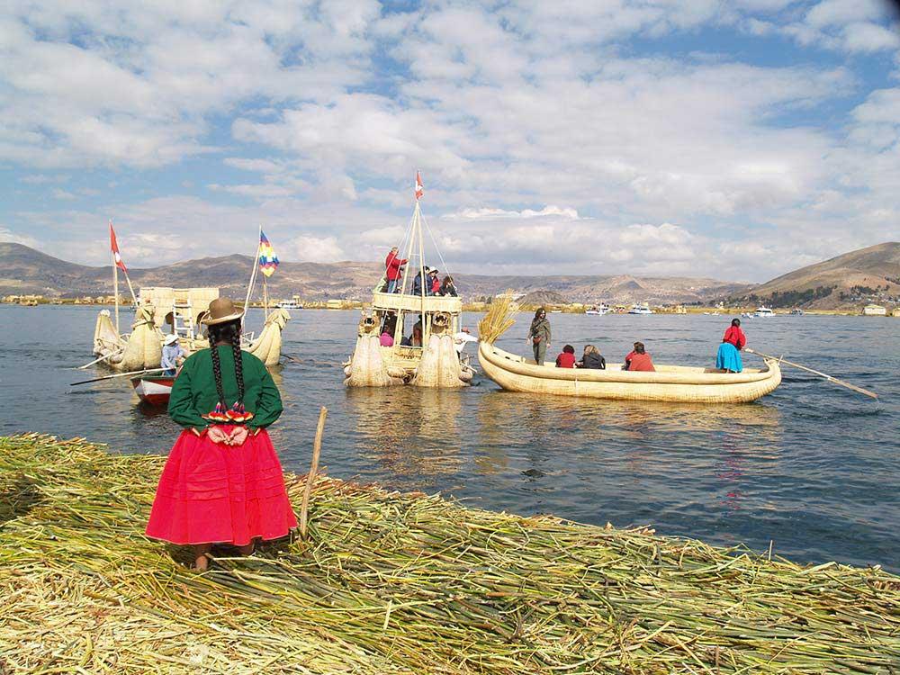 Peru 2007: Uros-Inseln im Titicaca-See