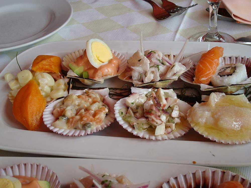 Peru 2007: Ceviche - Meeresfrüchte mit Zitronensaft