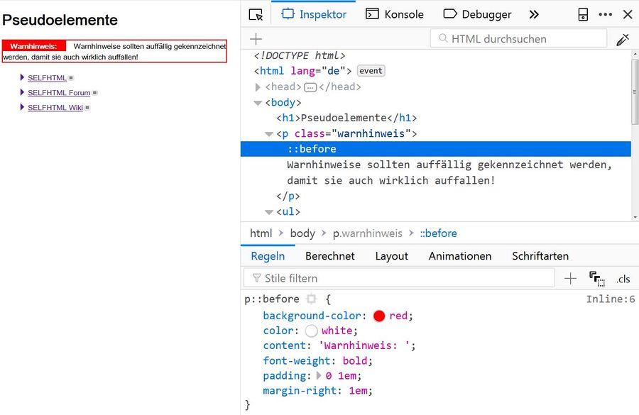 HTML/Tutorials/HTML & CSS mit dem Seiteninspektor